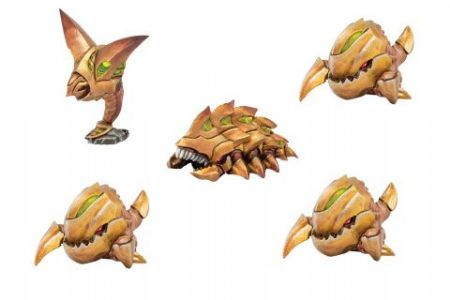 Monsterpocalypse – Chompers, Destructomite & Explodohawk: Planet Eaters Unit (resin)
